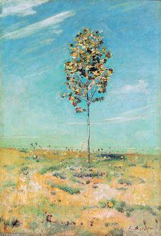 Le Petit Plantane, huile sur toile de Ferdinand Hodler (1853-1918, Switzerland)