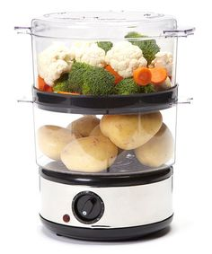 Take a look at this Electric Stainless Steel Food Steamer by Trademark Global on #zulily today!