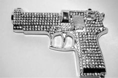 Bling pistol yes please! Bang Bang, The Bling Ring, Bling Bling, By Any Means Necessary, Glitz And Glam, Guns And Ammo, Paintball, Self Defense, Girls Best Friend