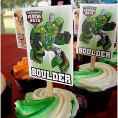 Rescue Bots Cupcake Topper