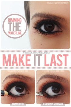 Keep your waterline eyeliner from running or disappearing during the day. | 15 Easy Hacks For Perfect Eyeliner