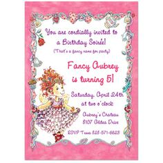 Fancy Nancy Invitation