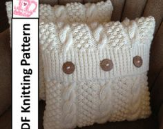 Knit pattern pdf, Cable knit pillow cover pattern, Blackberry Cables 16 x Knitting Projects, Crochet Projects, Sewing Projects, Knitting Patterns, Crochet Patterns, Stitch Patterns, Knitted Cushions, Knitted Cushion Pattern, Cable Knitting