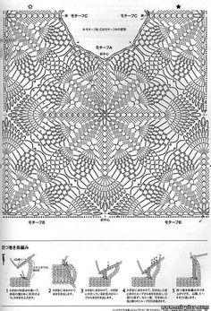 Fabulous Crochet a Little Black Crochet Dress Ideas. Georgeous Crochet a Little Black Crochet Dress Ideas. Crochet Bolero, Pull Crochet, Crochet Motifs, Crochet Tunic, Crochet Diagram, Irish Crochet, Diy Crochet, Crochet Doilies, Crochet Clothes