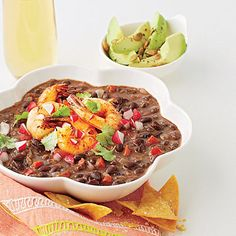 Black Bean Soup with Tequila Shrimp   Learn how to make Black Bean Soup with Tequila Shrimp. MyRecipes has 70,000+ tested recipes and videos to help you be a better cook