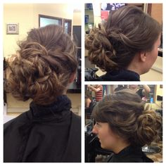 Hair updo prom
