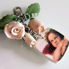 Cupid Purse Charm  Polymer Clay by beadscraftz on Etsy, $12.00