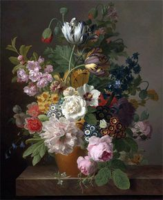 Title: Still Life of Flowers, undated Artist: Jan Frans van Dael Medium: Canvas Print