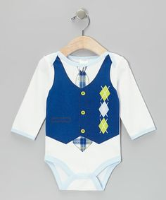 Look what I found on #zulily! Navy Argyle Bodysuit #zulilyfinds