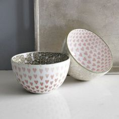 Setting the Table Valentine's Day: bowls from West Elm