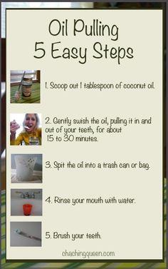 Oil Pulling - 5 Easy Steps