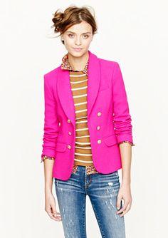 j crew pink blazer - Google Search