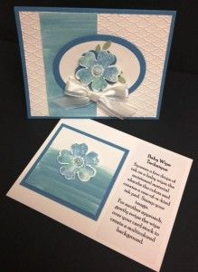 Handmade baby wipe technique card using the Flower Shop stamp set from Stampin' Up!