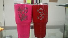 Grimm Brothers Coatings 2806 Delmar ste d Victoria TX 77901 361-579-3321 M-F 9-6 cst Custom Yeti powder Coated and laser etched here in shop. Give us a call today to place your orders