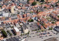Nykøbing set fra luften - Folketidende.dk - Galleri:  #Nykøbing_falster #Nykøbing #Guldborgsund