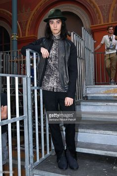 Model Louis Kurihara attends the Lanvin Menswear Spring/Summer 2016 show as part of Paris Fashion Week. Held at 'Ecole Nationale Superieure des Beaux Arts' on June 28, 2015 in Paris, France.
