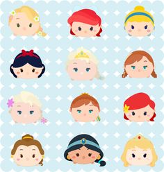 I would like to share with you Rapunzel, Ariel, Cinderella, Snow White, Elsa, Anna, Belle, Jasmine, and Aurora. **FOR PERSONAL USE O...