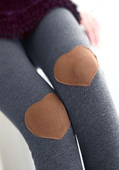 heart-patched Leggings