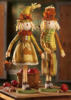 Fall/harvest Country Scarecrow Tabletop Decoration