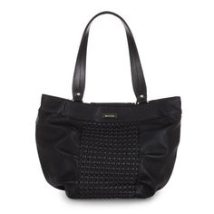 Eve    Every gal needs a smart black handbag she can rely on in all seasons, and the Eve for Demi Bags gives you the high style you demand in the ebony color you crave! Matte faux leather with basket weave front panel is accented by subtle pleat detailing. And be sure to check out the phone pocket on the back with zipper closure. Come sunshine or rain, wind or snow, Eve is ready to help you face your busy day with style.