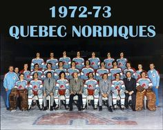 The first uniform of the Quebec Nordiques of the WHA. Hockey Goalie, Hockey Teams, Ice Hockey, Hockey Stuff, Cleveland News, Quebec Nordiques, Stars Hockey, Good Old Times, Sports Uniforms