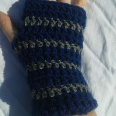 Hogwarts Ravenclaw Colored Fingerless Gloves by SpookyStitchcraft