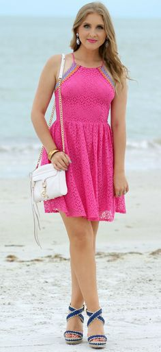 Can't get over how cute this hot pink dress...and that it's from TARGET. Obsessed.