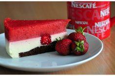 Truskawkowy sernik na zimno Nescafe, Portal, Cheesecake, Fit, Shape, Cheesecakes, Cherry Cheesecake Shooters