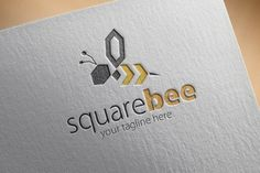 Check out Square Bee Logo by samedia on Creative Market
