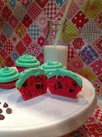 Wassermelonen-Cupcakes Cakepops, Desserts, Food, Watermelon Cupcakes, Sun Rays, Bakken, Tailgate Desserts, Deserts, Cake Pop