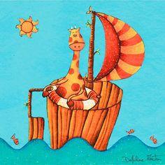 Cuadro infantil Pequeño barco de Lilipinso.