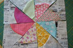 THE QUILT BARN: Vintage Quilt: Daisy Pinwheel