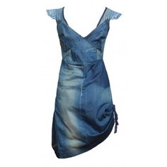 Cocktail Dress from recycled denim by Remaid