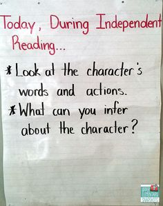 Focus Question - using sticking notes -  Making the Most of Independent Reading Time