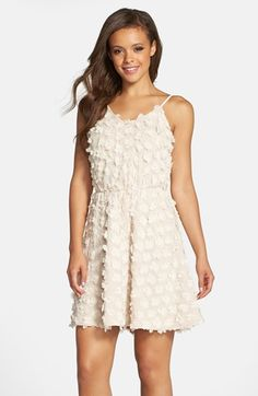 Dress+the+Population+'Holly'+Floral+Appliqué+Chiffon+Blouson+Dress+available+at+#Nordstrom