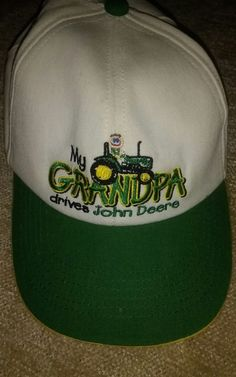 73fea0c5230d2d My Grandpa Drives a John Deere made in the USA snapback adjustable hat cap  Preowned but