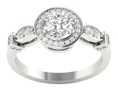207402378af 14K Gold I1 G Round Cut 1.15Ct Diamond Prong Set Solitaire Engagement Ring  Band