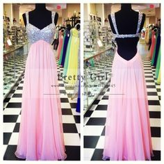 Aliexpress.com : Buy Vestido De Festa 2014 Rhinestone Beaded Strap V Neck Open Back Evening Party Dress Long Real Picture Prom Dress Customer Made from Reliable dress thanksgiving suppliers on Pretty Girl Trade Co., Ltd