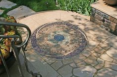 """David Chidgey, Scarsdale NY, mosaic """"Planet"""" commission"""