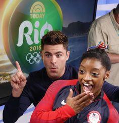 Zac meets Simone #Rio2016