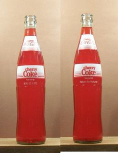 COCA COLA CHERRY COKE OLD VINTAGE ACL SODA 16 OZ OUNCE REFUND BOTTLE 267