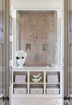 this would be amazing if it had a seat on the other side and turned into a steam shower!