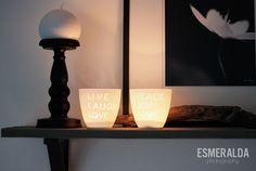 Bloomingville Ceramic Candle Holder - Esmeralda's