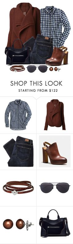 """Untitled #1230"" by gallant81 ❤ liked on Polyvore featuring J.Crew, Rick Owens, Paige Denim, Coach, Linda Farrow, Honora and Elizabeth and James"