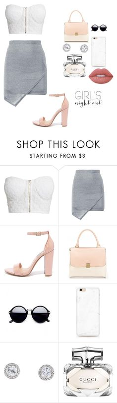 """""""Untitled #28"""" by laury-jenkins ❤ liked on Polyvore featuring NLY Trend, Steve Madden, Gucci, Lime Crime and girlsnightout"""