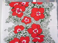 Vintage Finnish Tampella  Fabric Lemmikki design by Marjatta Metsovaara