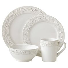 The Pioneer Woman Cowgirl Lace 16-Piece Dinnerware Set Bundle Linen | Kathy | Pinterest | Pioneer woman Dinnerware and Linens  sc 1 st  Pinterest : dinnerware 16 piece sets - pezcame.com