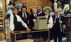 I'm now going to attempt the impossible: I'm going to write an entire article about the BBC sitcom Are You Being Served? British Sitcoms, British Comedy, English Comedy, British Humor, Comedy Tv, Comedy Show, Detective, Are You Being Served, Classic Comedies
