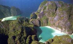 Maya Bay, Thailand, setting of the movie The Beach, lucky enough to have been here myself, paradise!