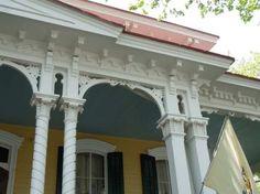 gorgeous porch trim on Italianate